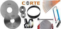 Sierras de corte circular, sierra cinta y manual